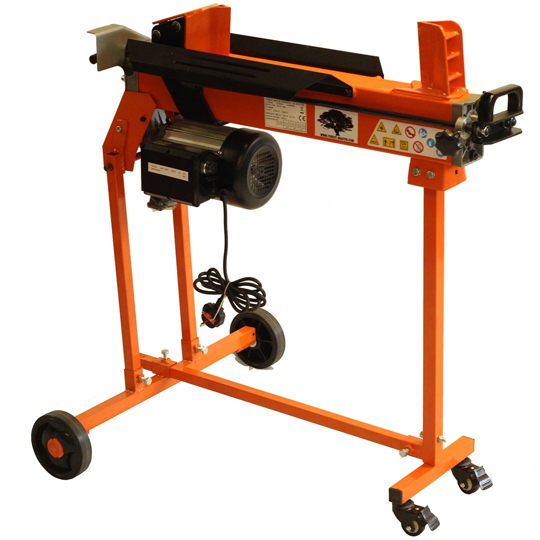 XtremepowerUS 7Ton Electric Log Splitter Wood Cutter w// Mobile Hydraulic Wheels