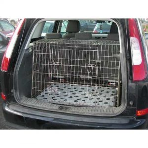 Pet World FORD FOCUS C-MAX 2003-2010 CAR DOG CAGE BOOT TRAVEL CRATE Double Cage