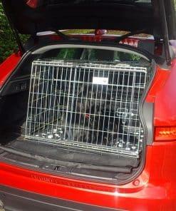 jaguar f pace, pet travel cage, car dog crate