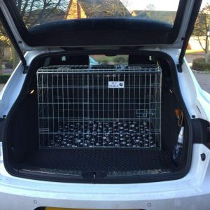 porsche macan, dog cage, pet crate
