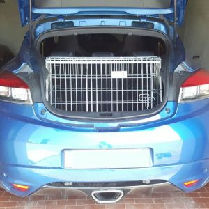 renault megane mk3 coupe, dog cage, pet travel crate