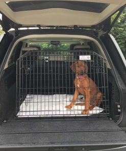 range rover autobiography, dog travel cage