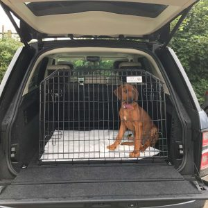 range rover autobiography, dog travel cage