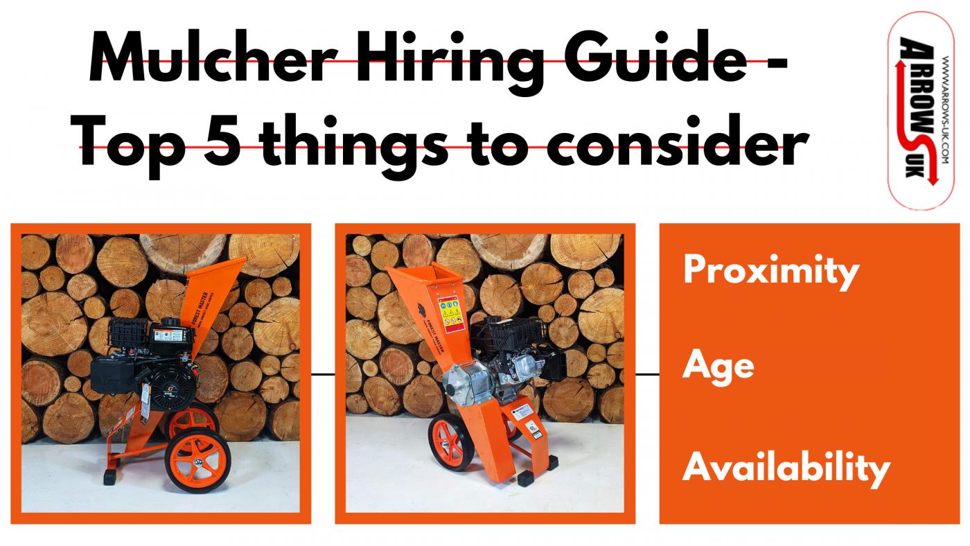 Arrows-UK, Mulcher Hire, Wood Chipper, Garden Shredder, Mulcher